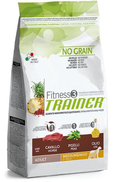 Trainer+Fitness+3+con+carne+di+CAVALLOèun+alimento+monoproteico+per+cani+adultidi+taglia+medio+grande(dai+10kg+in+su),predisposti+a+sensibilità+alimentare. Caratteristiche: Fitness3+è+un+alimento+monoproteico+(OAP)+integrato+con+ingredienti+funzionali+in+grado+di+favorire+il+benessere+generale+dell'animale.+L'utilizzo+di+carne+disidratata+di+cavallocome+unica+fonte+proteica+di+origine+animale. Com...