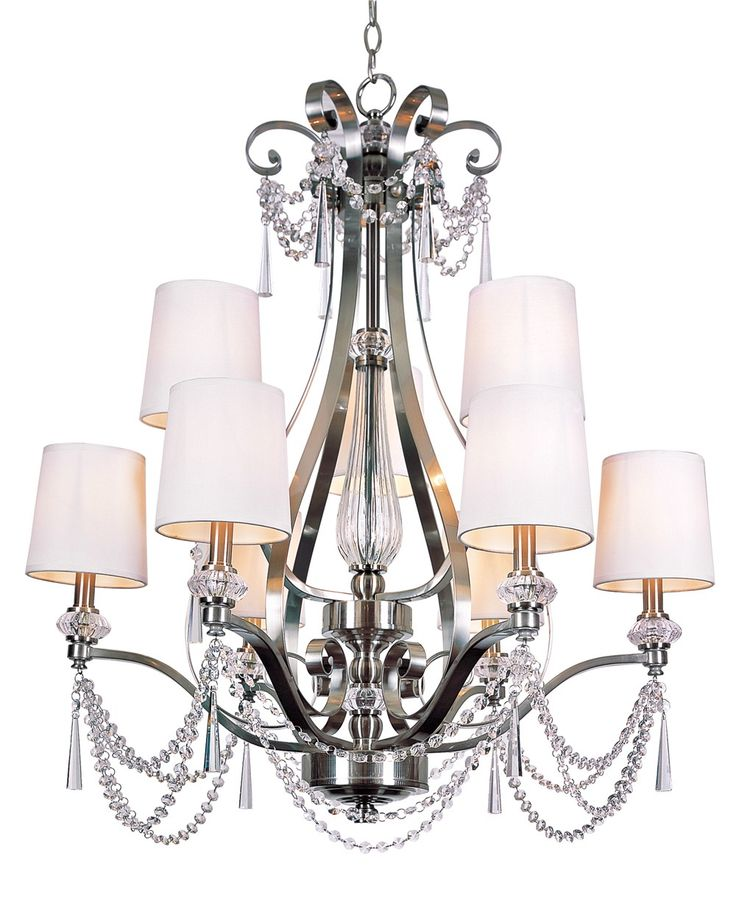 South Shore Decorating Trans Globe Lighting 7879 BN Young And Hip Transitional Crystal Chandelier