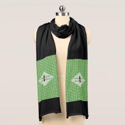 St. Patricks DAY IRISH Gift SHAMROCK - EDIT TEXT Scarf - chic design idea diy elegant beautiful stylish modern exclusive trendy
