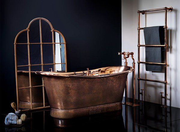 The Copper Bateau- Antiqued Exterior by Catchpole & Rye Bathrooms