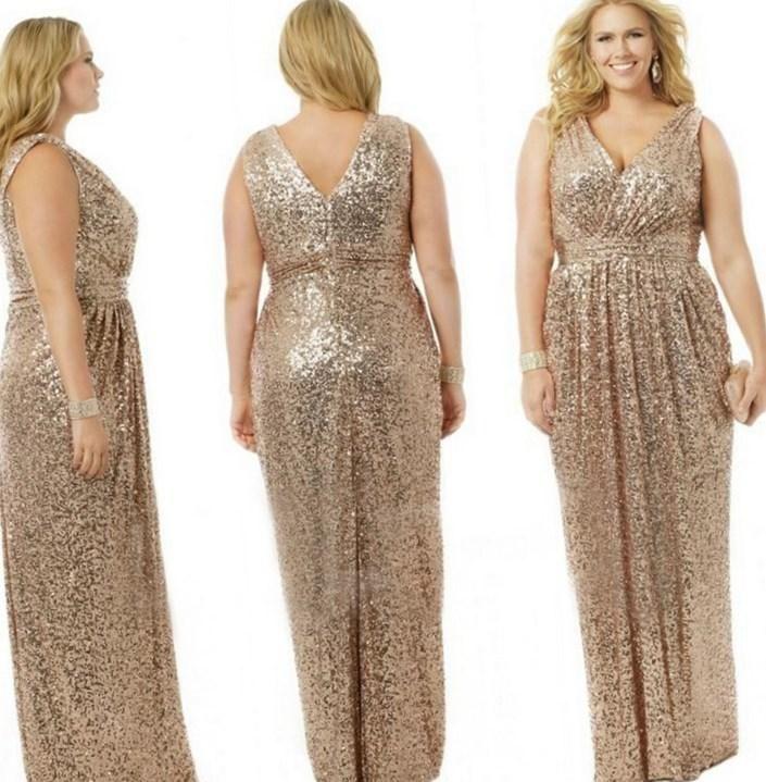 Gold plus size bridesmaid dresses - http://pluslook.eu/party/gold-plus-size-bridesmaid-dresses.html. #dress #woman #plussize #dresses