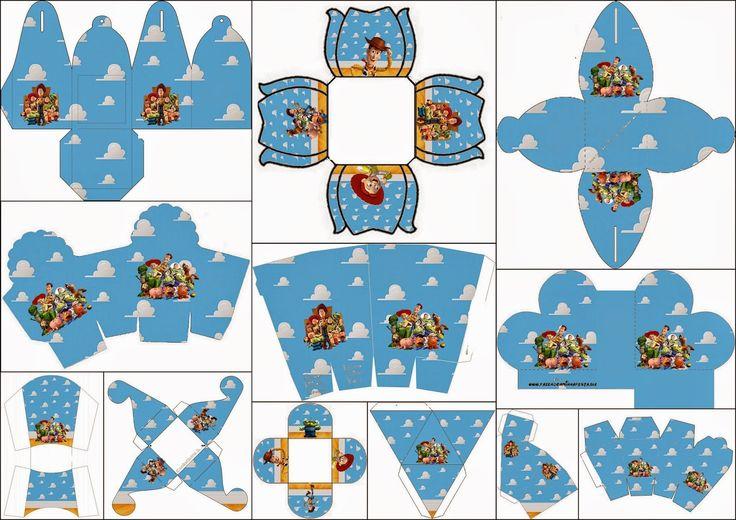 Toy Story 3: Cajas para Imprimir Gratis. | Ideas y material gratis para fiestas y celebraciones Oh My Fiesta!