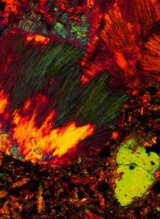 Microscoopfoto van een Basalt
