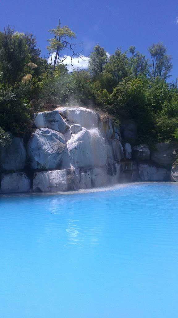 Wairakei Terraces. Thermal Pools of New Zealand
