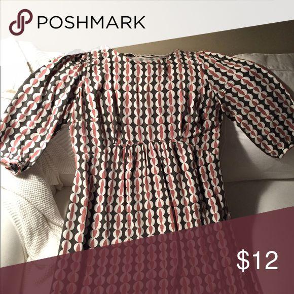 Boden dress Olive/pink Boden dress. Worn one time. Boden Dresses