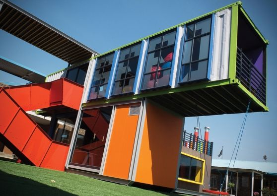 Shipping container library, Joburg township school