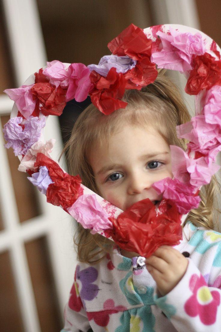 Happy Hooligans - Tissue Paper Valentine Wreath