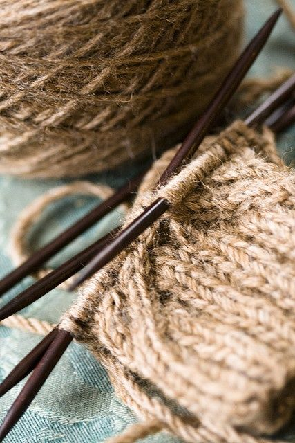 Knitting/crocheting with hemp! Why didn't I think of this?