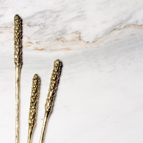 Cute Araucaria Hair Stick brass by Kirsten Muenster