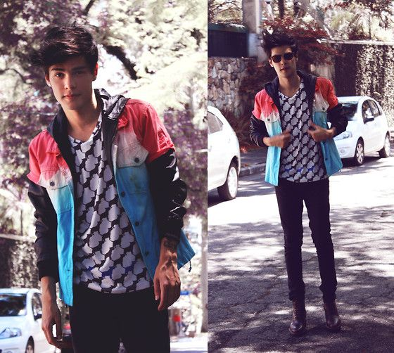Fiction (by Vini Uehara) http://lookbook.nu/look/4609009-Doc-Dog-Tshirt-Guidomaggi-Guidommagi-Boots-Viparo
