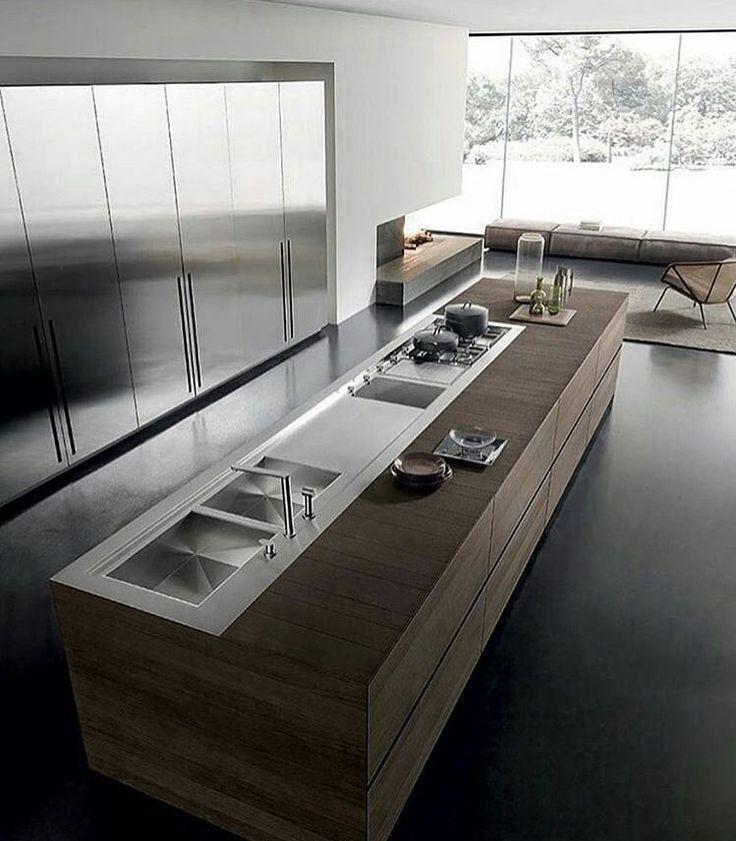 Clean lines. Kitchen