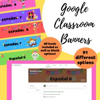 Día de los muertos Google Classroom Banners (Spanish ...