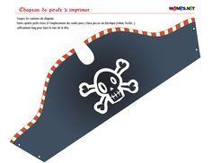 FREE printable // chapeau pirate a imprimer