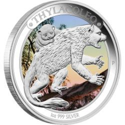 Take a look back in time with this fascinating coin series and meet the animals that roamed Australia during the Pleistocene | Australian Megafauna – Thylacoleo 2014 1oz Silver Proof Coin