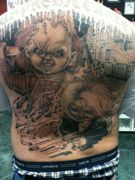 Realistic Coloring Of Chucky: I Want A Chucky Tattoo !