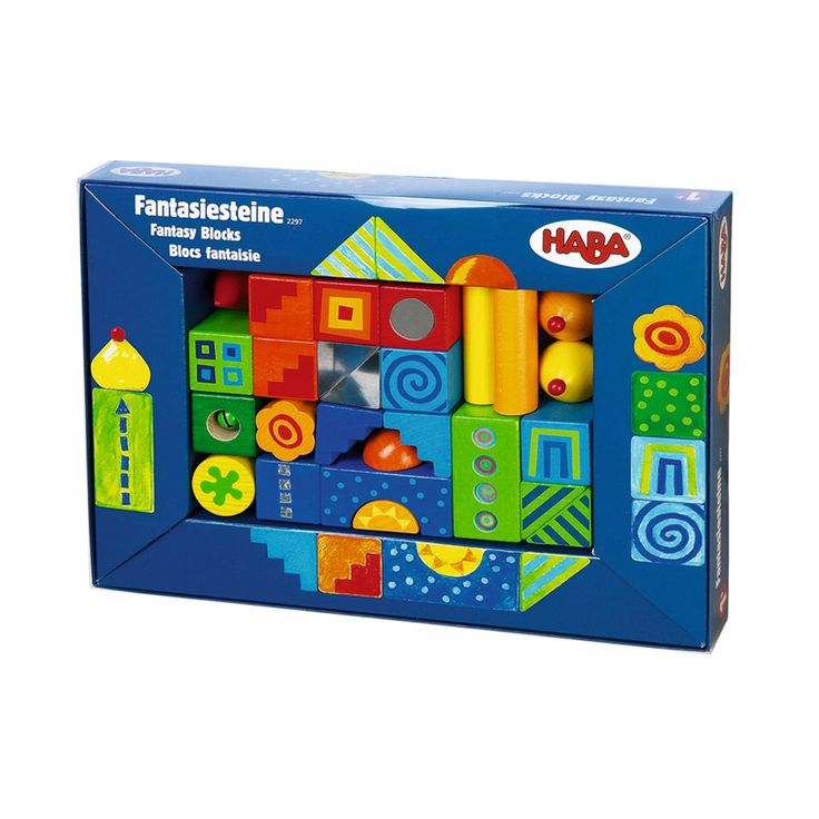 HABA Fantasy Blocks are a nice addition to regular blocks.  They provide some of the more interesting shapes that make building more fun.