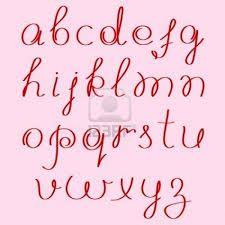 Resultado de imagen para abecedario manuscrito español
