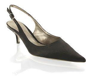 Barratts Satin Kitten Heel Sling Back Product name: Dietrich http://www.