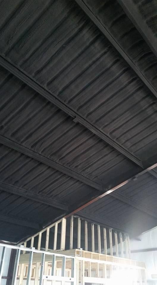 Painted Spray Foam Ceiling