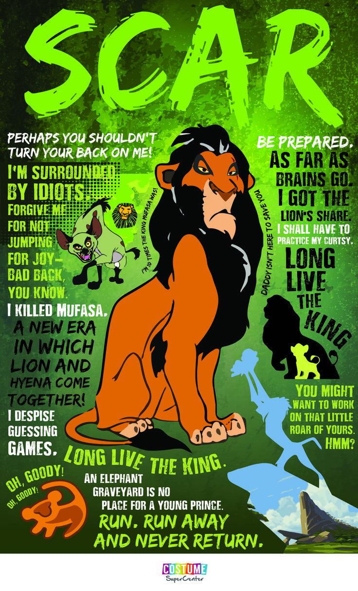 Here are some quotes from the lion king s scar that will give you chills