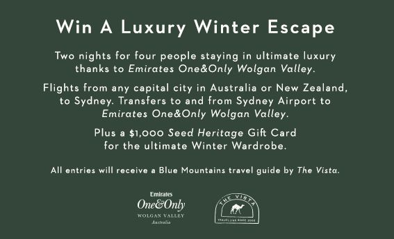 Win a Luxury Winter Escape with #seedheritage and Emirates One and Only Wolgan Valley