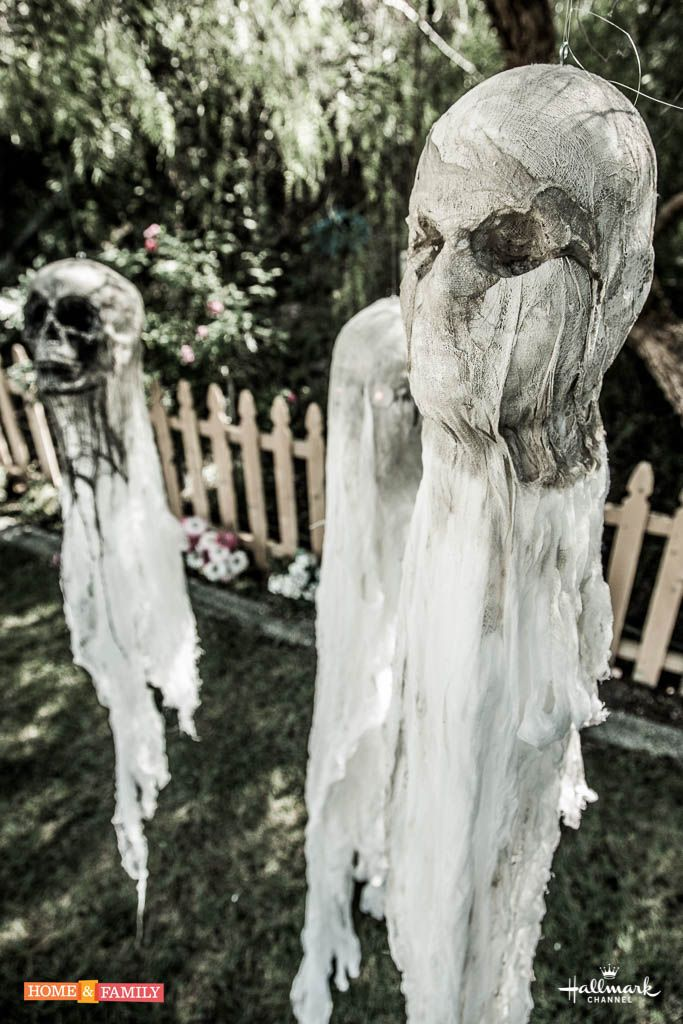 give your neighbors a scare this halloween with spooky tree cloths for more tricks treats tune in to home and family on hallmark channel - Hallmark Halloween Decorations