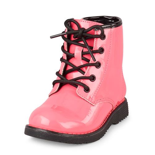 Baby Girls Toddler Lace Roxi Boot Pink Children