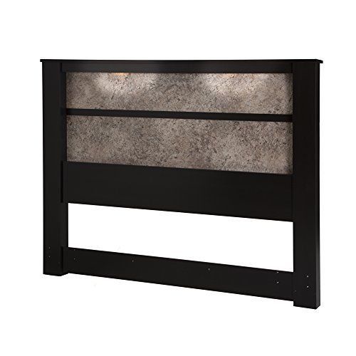 """South Shore 78"""" Gloria Headboard with Lights, King, Chocolate/Faux Marble South Shore http://www.amazon.com/dp/B00ZBA5F0Y/ref=cm_sw_r_pi_dp_4v4Uwb1ZXGZRA"""