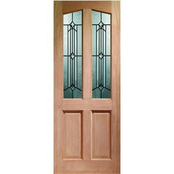 Image of Richmond External Wooden Door, Dowel Jointed - Donne Style Double Glazing