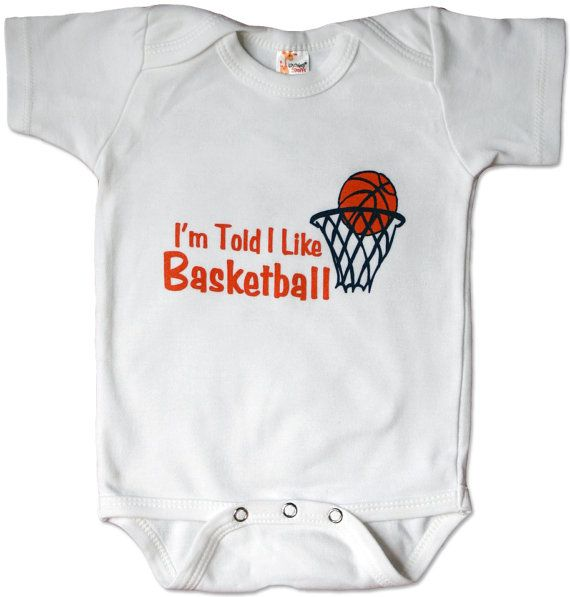 I'm Told I Like Basketball baby and toddler shirt by threewagons, $15.00