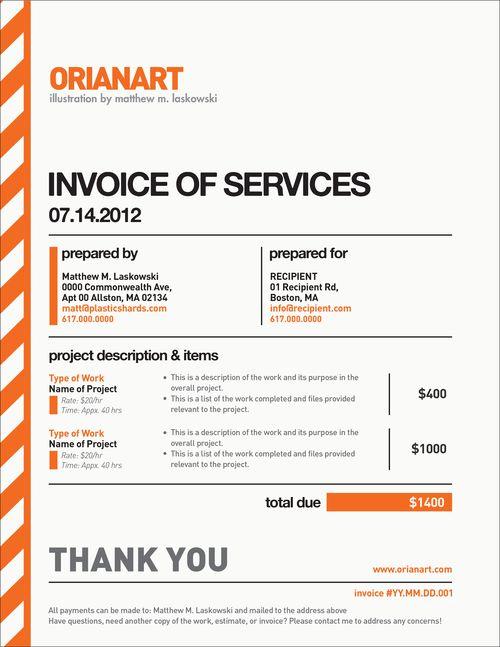 25+ beautiful Invoice design ideas on Pinterest Invoice design - photography invoice sample