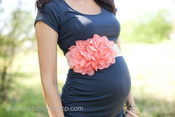flower maternity belt for baby showers, gender reveals, maternity photos by TheBeltedBump