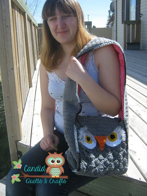 Ravelry: CandidQuilts' Barney the Owl Messenger Bag
