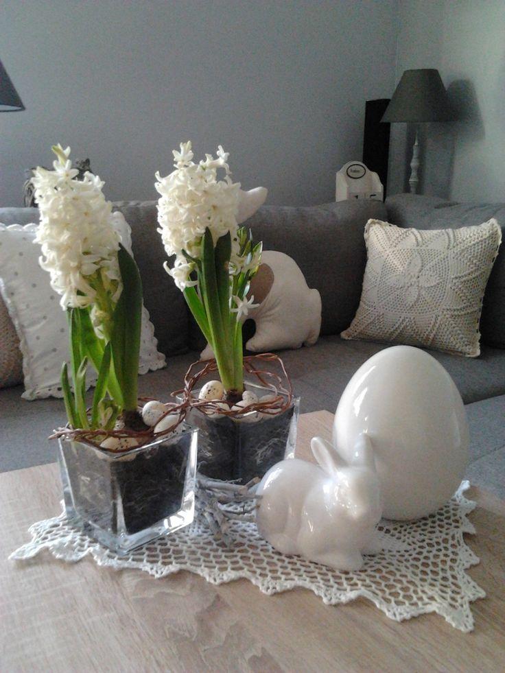 Wyposażenie, Wiosenne migawki :) - Białe hiacynty nadal królują w naszym domku :)