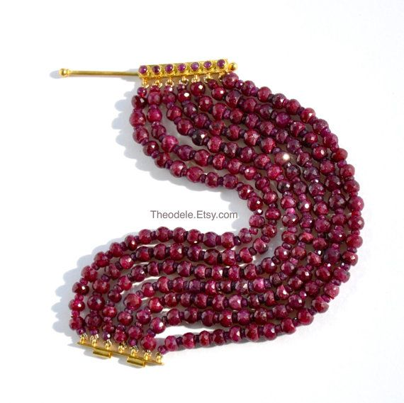 18k gold and African ruby bracelet, by Theodele
