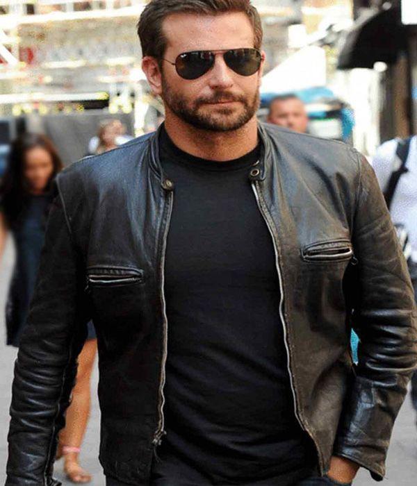 Adam Jones Bradley Cooper leather jacket