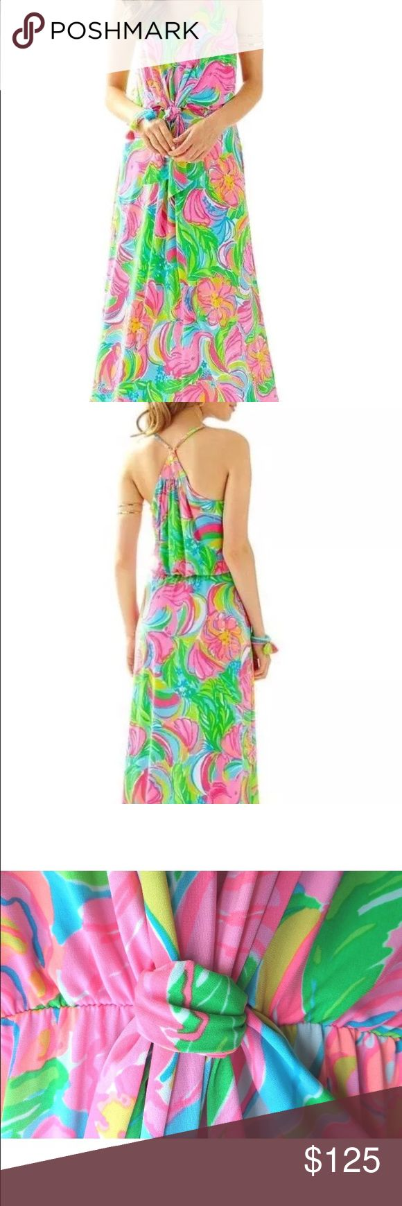 Lilly Pulitzer Rosa Maxi Dress - So A Peeling sz M New with tags, never worn. So cute and very flattering. Lilly Pulitzer Dresses Maxi