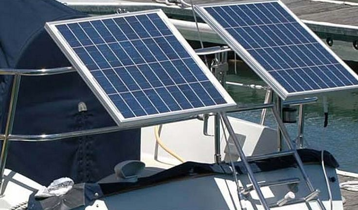 Check out the Marine Rail Single Bar mounting system - this is a tilted solar panel system.   You can check out more details at our website: http://marinesmartenergy.com/marine-products/solar-panels-and-mounts/