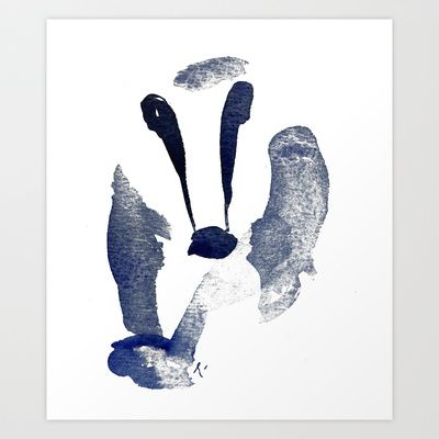 Badger - print from an aquarelle painting by Ramalamb