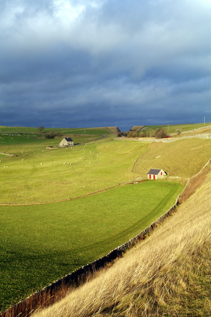 View from the Hartington Trail in Derbyshire from a hike we took over Christmas