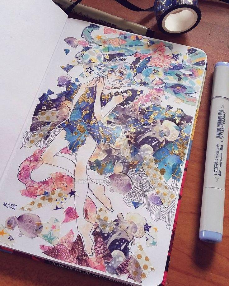Hatsune miku by mappiee on deviantart marker art tape