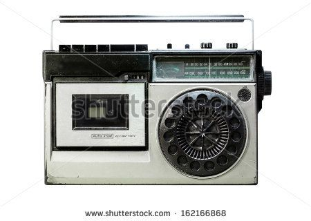 Retro cassette player and recorder is waiting you to redesign it. - stock photo