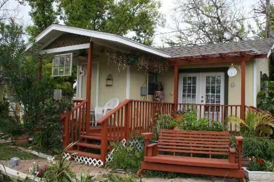 Clipper House Inn. Comprised of several small cottages surrounding a garden walkway and gazebo. Really nice Bed and Breakfast in Kemah, TX