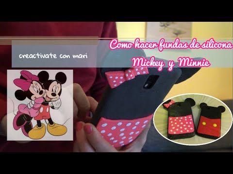 Como hacer fundas de silicona para móvil de Mickey y Minnie - YouTube