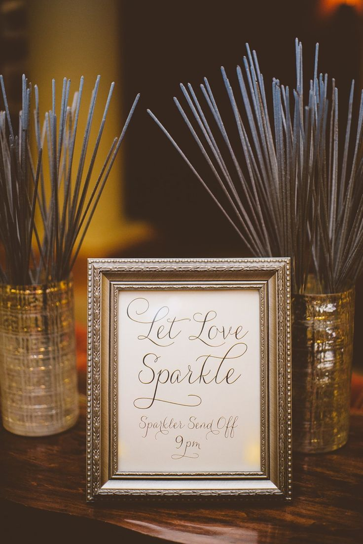 How about a sparklers send off....We can put sparklers on each table (heck make it a decoration) and personalized match books as well, so everyone is ready when the time comes!
