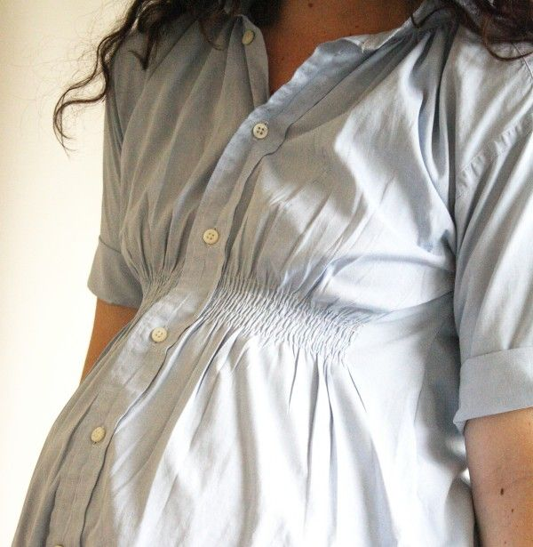 Shirred Maternity Tunic top- Anthro knockoff. Great tutorial!