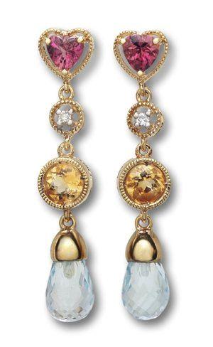 Estate Vintage Style Gemstone Earrings