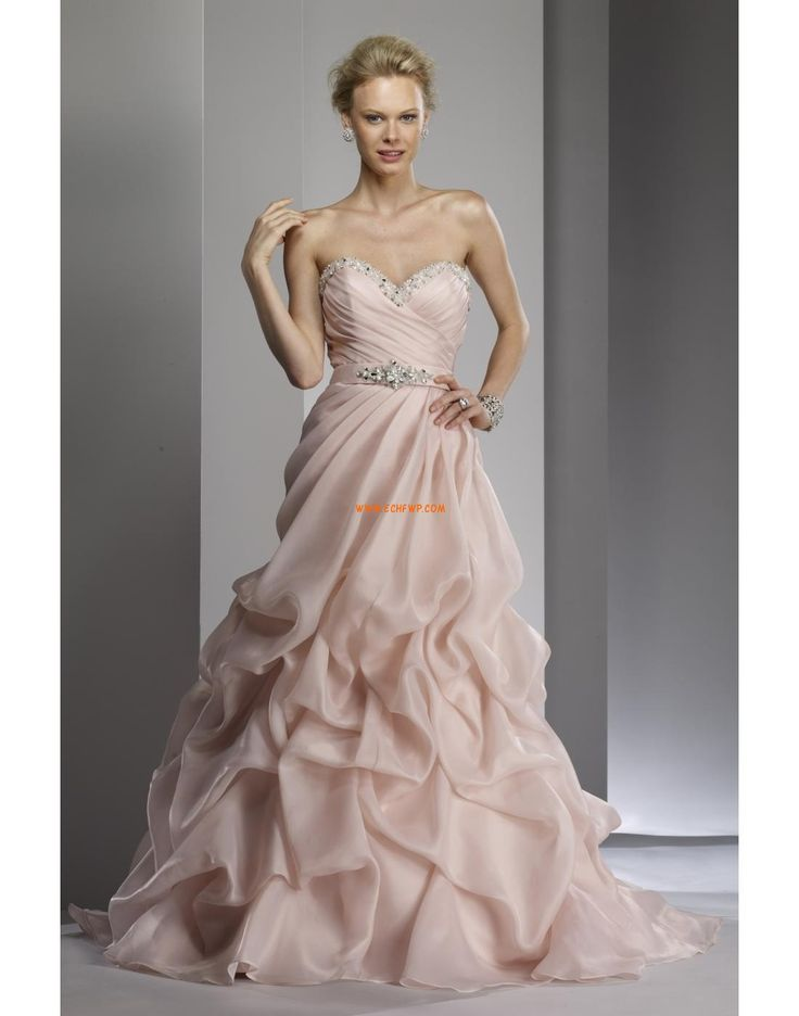 Okouzlijící & dramatický Bez rukávů Přírodní Svatební šaty 2014
