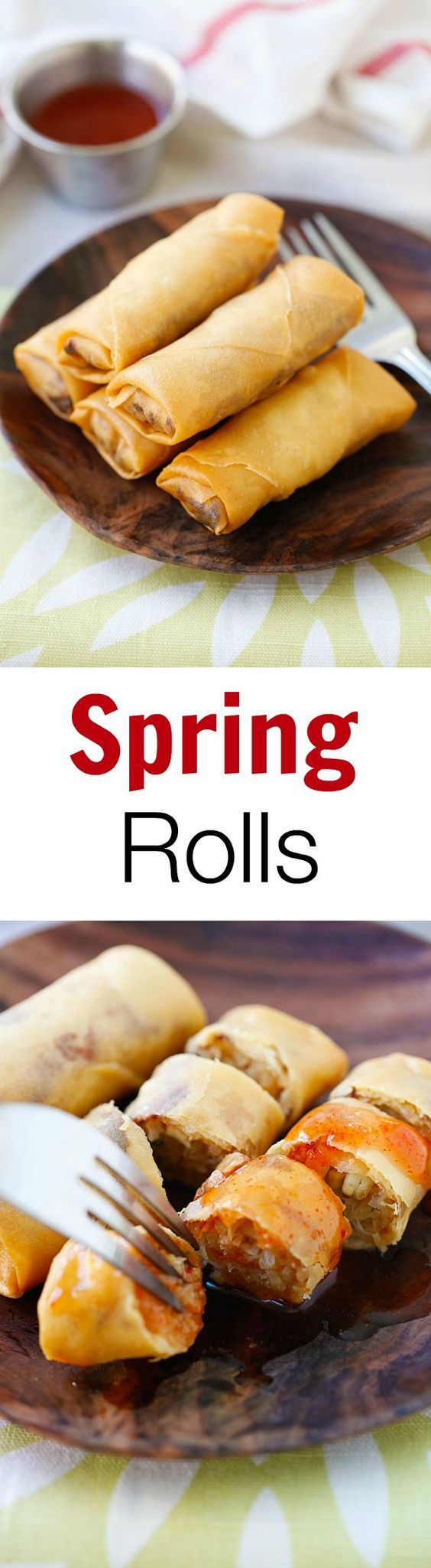 Fried spring rolls – the best and crispiest spring rolls recipe ever filled with vegetables and deep-fried to golden perfection