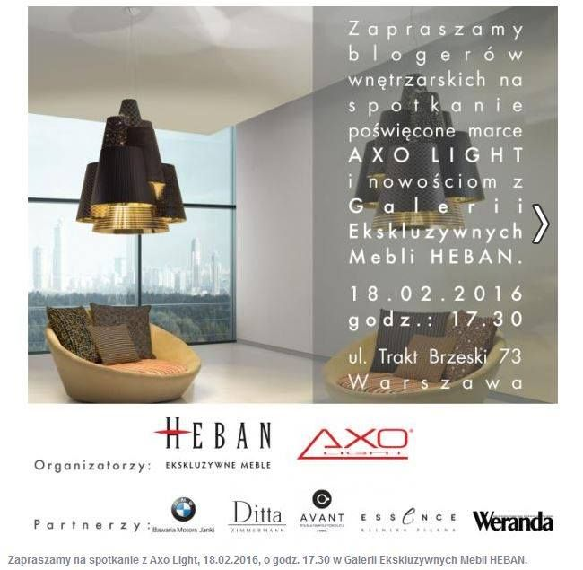 Come and meet Axo Light in Heban showroom in Warsaw. On February 18th,2016 in Heban showroom in Warsaw has taken place a great event arranged by Heban and Axo Light. The main partner was BMW. Discover more on our website. #axolight #bmw #heban #lighting #design #aibu